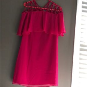 Hot pink strapped dress